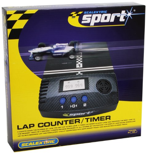 Scalextric Lap Counter (Scalextric C8215 Lap Counter/Timer Incl. X2 175mm Track and X1 straight converter)