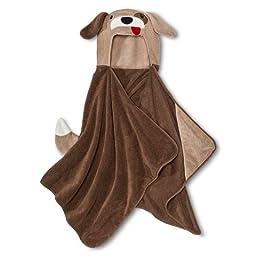 Soft Plush Hooded Towel by Circo (24x52) Machine Washable. (Puppy Dog)