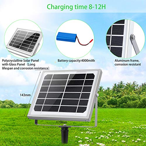 Foco Solar Cly 60 Led Luz Solar Lampara Solar Exterior 60 Led Con Bateria 4000mah Panel Solar Encendidoapagado Automaticamente Ip66 Impermeable Lampara Solar Para Jardin Calle Y Garaje