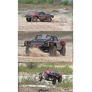 Tecesy RC Car FIGHTER-1 1:12 4WD 2.4G Full Scale High Speed RC Buggy Off-road Short Course Truck (Red)