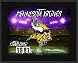 "Minnesota Vikings 10.5"" x 13"" Sublimated Horizontal Team Logo Plaque - Fanatics Authentic Certified - NFL Team Plaques and Collages"