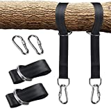 Anne210 Tree Swing Straps Hanging Kit (Set of 2) - 1.5M5CM Long with Two Zinc Alloy Carabiners - 2000Lbs Break Strength - for Swings and Hammocks.