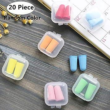 Candy Ear Plugs Ear Protector Anti Noise Sleep Study Helper Working Earplug Foam Plastic Box Packaging Office & School Supplies Desk Accessories & Organizer