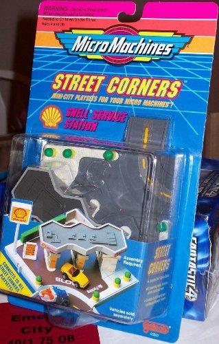 (Micro Machines STREET CORNERS SHELL SERVICE STATION PLAYSET)