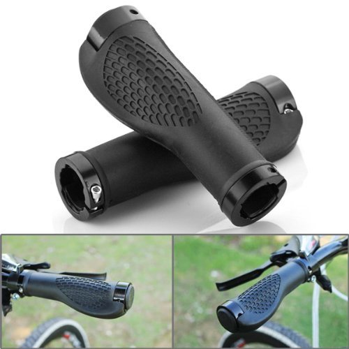 TETC-Motorcycle-Racing-78-Handlebar-Rubber-Gel-Hand-Grips-Bar-End-Cap-Plug-Black