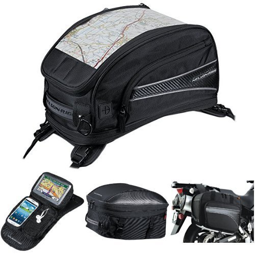 Nelson-Rigg CL-2015-ST Black Strap Mount Journey Sport Tank Bag,  CL-GPS-MG Black Magnetic Mount Journey GPS Mate,  CL-1060-ST Black Sport Touring Tail/Seat Pack,  and  (CL-855) Black Touring Adventure Saddlebag Bundle
