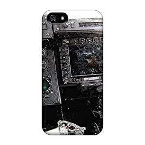 Ultra Slim Fit Hard Saraumes Case Cover Specially Made For Iphone 5/5s- V 22 Osprey Cockpit