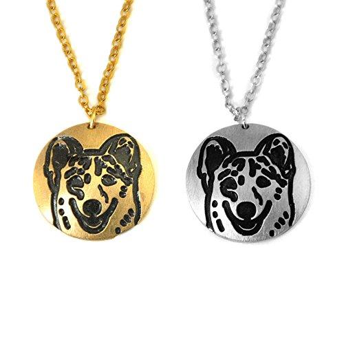 Custom Welsh Corgi Necklace, Dog Pendant Necklace, Dog Necklace, Welsh Corgi Jewelry, Gift For Her (Gold)