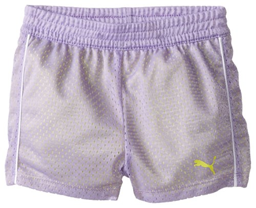 PUMA Toddler Girls' Active Double Mesh Short, Winner Lilac, 3T by PUMA