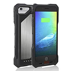 iPhone 6 / 6S Battery Case, Apple MFi Certified EZOPower 3500mAh iPhone 6 and 6S 4.7 Battery Case with Bumper Protection - Black/Silver