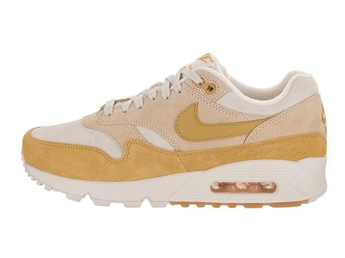c6c3318167 Amazon.com   Nike Air Max 90/1 Women's Shoes Guava Ice/Wheat Gold/Summit  White aq1273-800   Road Running