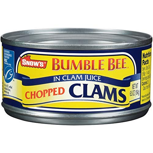 SNOW'S BY BUMBLE BEE Chopped Clams, 6.5 Ounce Can (Case of 12), Canned Clams, Gluten Free, High Protein, Keto Food, Keto Snacks, Paleo Diet Food, Canned Food 1