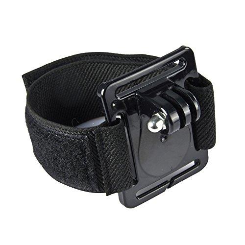 SAVFY® Handgelenkhalterung, Handgelenkhalter, Handgelenkband für Actioncam Sportkamera Gopro Hero 1, 2, 3, 3+