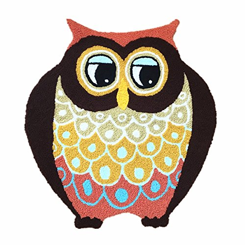 Ustide Handmade Owl Floor Mat/Cover Floor Rug Indoor/Outdoor Area Rugs,Washable Garden Office Door Mat,Kitchen Dining Living Hallway Bathroom Pet Entry Rugs with Non Slip Backing Review
