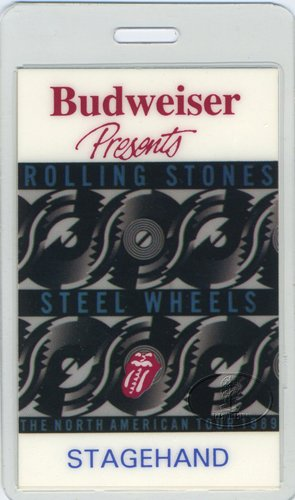 Rolling Stones 1989 Steel Wheels Tour Laminated Backstage Pass