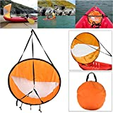 "Dyna-Living 42"" Durable Downwind Wind Sail Sup Paddle Board Instant Popup for Kayak Boat Sailboat Canoe Foldable Style Orange"