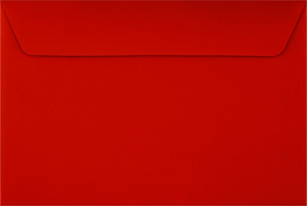 6 x 9 Booklet Envelopes - Holiday Red (500 Qty.) LUXPaper