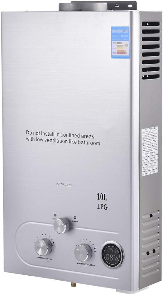 Calentador de Agua Instantáneo a Gas, 10L 2,7 GPM,20kW ...