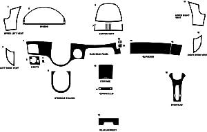 Rvinyl Rdash Dash Kit Decal Trim for Mercedes-Benz CL-Class 2000-2005 - Wood Grain (Burlwood Matte)