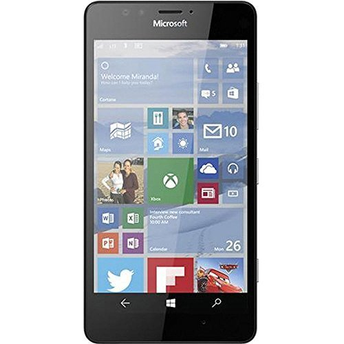 "Microsoft Lumia 950 32GB RM-1104 (Factory GSM Unlocked) 5.2"" 20MP 3GB RAM 4G Smartphone - International Version - No Warranty (Black)"