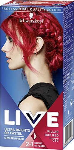 Schwarzkopf Live Ultra Bright or Pastel Colouration, Pillar Box Red Number...
