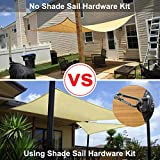 Gooswexmzl Shade Sail Hardware Kit, Stainless Steel