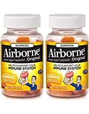 Airborne Assorted Fruit Flavored Gummies, 42 Count - 750Mg Of Vitamin C And Minerals & Herbs Immune Support (Packaging May Vary) (Pack Of 2)
