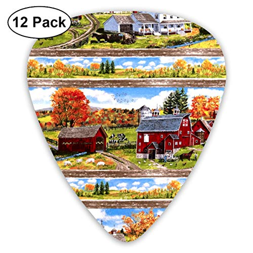 Repeating Stripe - Autumn Grove Repeating Stripe Bendy Ultra Thin 0.46 Med 0.73 Thick 0.96mm 4 Pieces Each Base Prime Plastic Jazz Mandolin Bass Ukelele Guitar Pick Plectrum Display