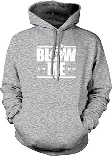 NOFO Clothing Co Blow Me, Turbo Boost Hooded Sweatshirt, L LtGray