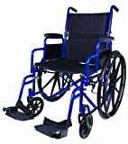 Carex Health Brands Wheelchair, Blue