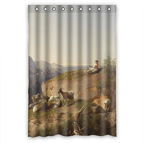 NASAZONE Width X Height / 48 X 72 Inches / W H 120 By 180 Cm Polyester Beautiful Scenery Landscape Painting Christmas Shower Curtains Fabric Is Fit For Teens Her Husband Family Kids. Eco Friendly