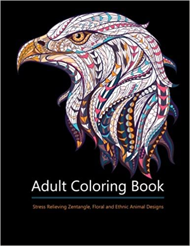 Adult Coloring Books Animal Kingdom Over 30 Stress Relieving Zentangle Floral Steampunk And Ethnic Designs Amazonca Star