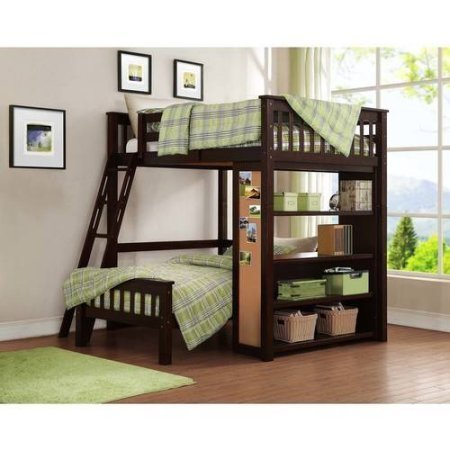 twin over full espresso bunk bed - 6