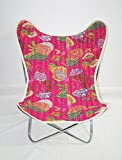 Butterfly Chair Room Adult Folding Portable Strong Metal Chair Kantha Cover