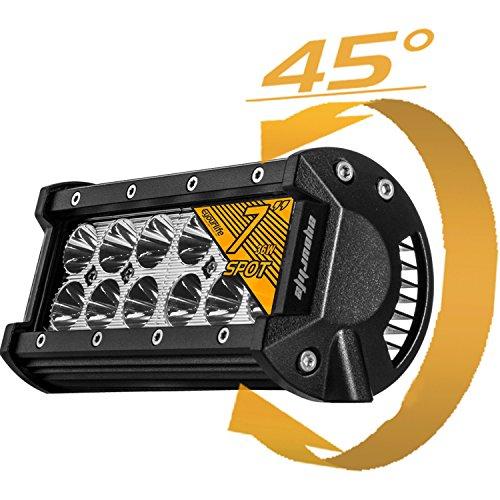 Eyourlife 36w Led Light Bar,1Pcs 7 inch 36W Spot LED Work Light Off Road 3600LM 30 Degree Super Light Jeep Cabin Boat SUV Truck Car ATV 4x4 4WD Boat
