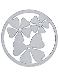 MS Koins Stainless Steel Clover Leaves Coin Fits Our Coin Locket System, 30mm Diameter