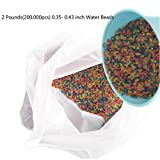 ZHENDUO Huge 2 pounds(200,000pcs) Pack of Water Beads, Rainbow Mix, Gel Water Gun Bullets, Sensory Toy and Decorations