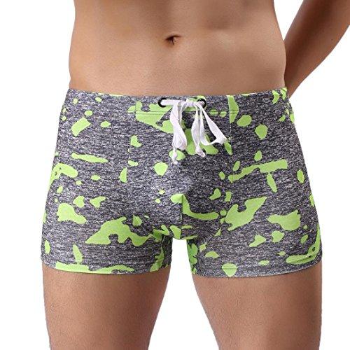 Men Swimwear Swim Pants Briefs Shorts Boxers Underwear Swimming GOTD (XL, Green)