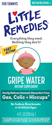 Little Remedies Gripe Water-No Alcohol, Sodium Bicarbonate, Artificial Color & Gluten Free-Safe for Newborns-4 oz Bottle