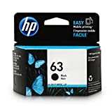 PC Hardware : HP 63 Black Original Ink Cartridge (F6U62AN) for HP Deskjet 1112 2130 2132 3630 3632 3633 3634 3636 3637 HP ENVY 4512 4513 4520 4523 4524 HP Officejet 3830 3831 3833 4650 4652 4654 4655