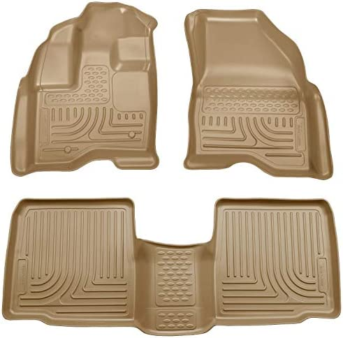 Husky Liners – 98733 Fits 2009-16 Lincoln MKS Weatherbeater Front & 2nd Seat Floor Mats Tan