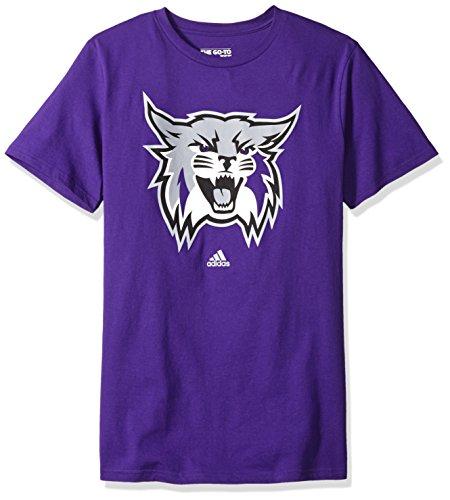 Addidas NCAA Men's Weber State Wildcats Primary Logo Short Sleeve Tee - - Weber Football State