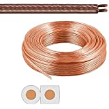 Manax - Cable de altavoz (2 x 2,5 mm², anillo de 20 m), transparente