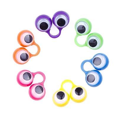 chungeng El Admirable Juego de 30 Juegos de Dedos con Anillos pegajosos en el Ojo de un títere.(None 6 Color Mix): Juguetes y juegos