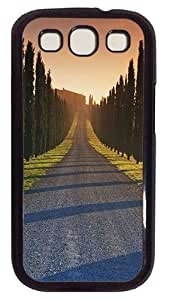 Trees Italy Roads Custom Samsung Galaxy S3 I9300 Case Cover Polycarbonate Black