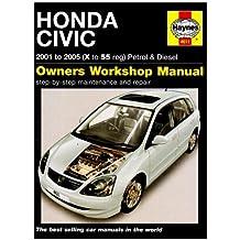 Honda Civic Petrol and Diesel Service and Repair Manual: 2001 to 2005 (Haynes Service and Repair Manuals) by R. M. Jex (17-Nov-2007) Hardcover