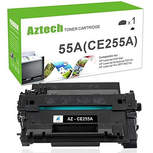 255A Toner Cartridge Compatible for HP 55A CE255A HP Laserjet P3015dn P3010 HP Laserjet P3015x P3015 P3015d P3015n HP Laserjet Pro 500 MFP M521dn M525dn M521dw M525f Printer ()
