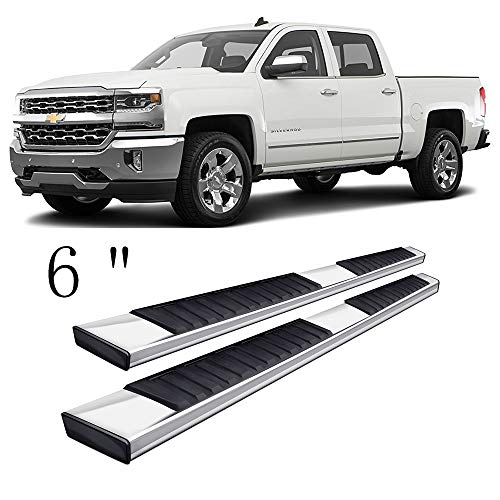 - Gevog 6 inches Running Board for 01-18 Chevy Silverado GMC Sierra Crew Cab (with 4 Full Size Door) Side Step Nerf Bars Pair