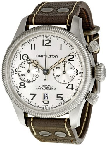 89c9bf57e Hamilton Khaki Conservation Auto Chrono Silver Dial Mens Watch H60416553:  Amazon.co.uk: Watches