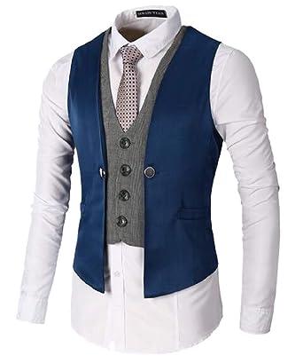 Amazon.com: yieg-mx Los Hombres de capas con Cuello en V de ...